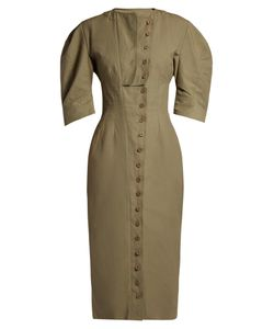 Stella Mccartney | Round-Neck Button-Through Midi Dress