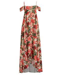 VILSHENKO | Elvira Carnation-Print Silk Crepe De Chine Gown