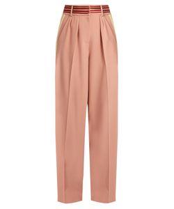 ROKSANDA | Tillae Contrast-Stripe Wide-Leg Trousers