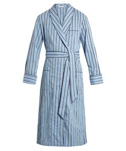 Derek Rose | Mayfair Striped Cotton Bathrobe