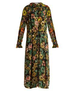 Preen By Thornton Bregazzi | Lucinda Print Hammered-Silk Dress