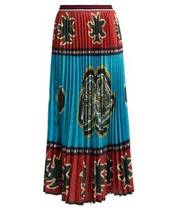 Stella Jean | Kanga-Print Pleated Crepe Skirt