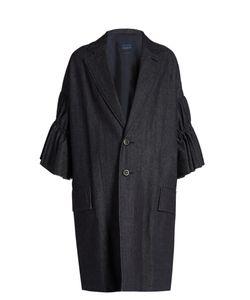 YOHJI YAMAMOTO REGULATION | Ruffle-Sleeve Denim Coat