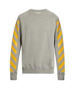 Moncler O   Maglia Striped Cotton Sweatshirt