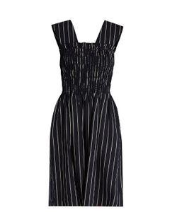 TRADEMARK   Dylan Striped Wool-Blend Dress