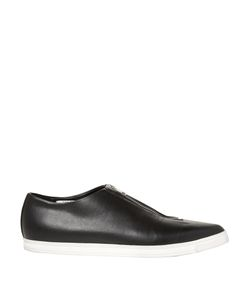 Stella Mccartney | Zip-Front Point-Toe Faux-Leather Flats