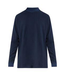 LONGJOURNEY   Long-Sleeved Cotton-Piqué Top