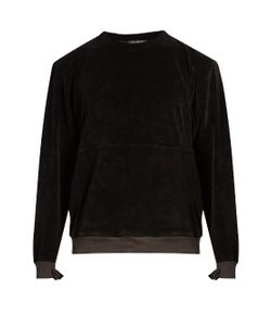 LONGJOURNEY | Nash Crew-Neck Aged Cotton-Velvet Sweatshirt