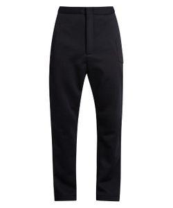 LONGJOURNEY   Zip-Front Herringbone Wool Track Pants