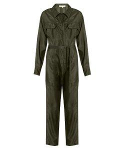 KATHARINE HAMNETT AT YMC | Long-Sleeved Silk-Satin Jumpsuit