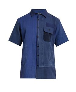 LONGJOURNEY | Aged Patchwork Short-Sleeved Shirt