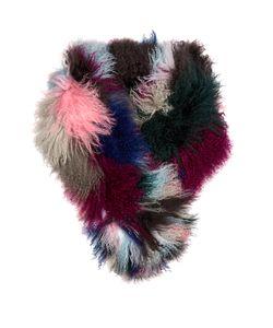 CHARLOTTE SIMONE | Kaleidoscope Cuff Wool Scarf