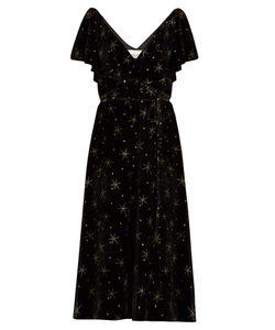 Valentino | Glitter-Star Embellished Velvet Dress