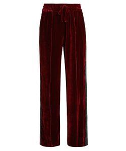 SERENA BUTE | Wide-Leg Velvet Trousers