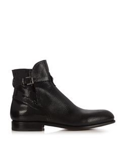 ARMANDO CABRAL | Lizard-Effect Leather Ankle Boots