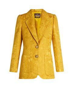 Roberto Cavalli | Wool And Silk-Blend Brocade Jacket