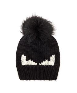 Fendi   Bag Bugs Fur-Pompom Wool Hat