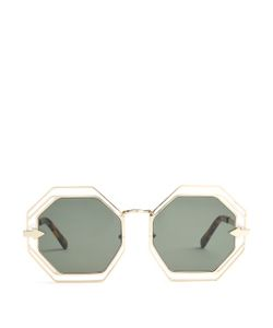 KAREN WALKER EYEWEAR | Emmanuel Hexagon-Frame Sunglasses