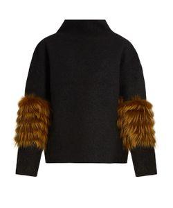 Saks Potts | Vein Fox-Fur Panel Wool Sweater