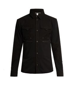 7L | Mid-Layer Contrast-Panel Overshirt