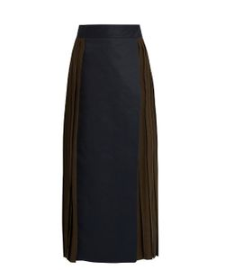 MAFALDA VON HESSEN | Bi-Colour Pleated Wrap Skirt