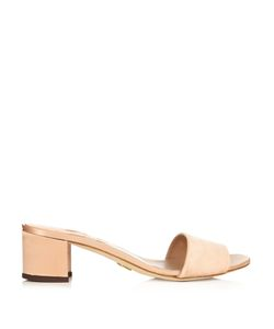 BROTHER VELLIES | Solt Satin Block-Heel Slide Sandals