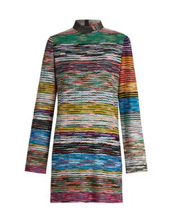 Missoni | High-Neck Striped Mini Dress