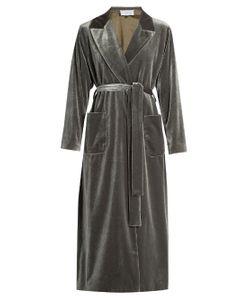 Luisa Beccaria   Belted Velvet Coat