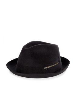 Larose | Rabbit-Felt Zip Trilby Hat