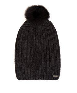 WOOLRICH JOHN RICH & BROS. | Fur-Pompom Cashmere Beanie Hat