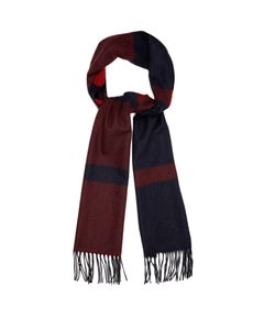 BEGG & CO. | Vigo Striped Wool And Cashmere-Blend Scarf