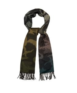 BEGG & CO. | Arran Camouflage-Print Cashmere Scarf