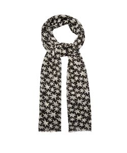 Saint Laurent | Star-Print Wool Scarf