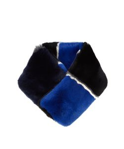 Diane Von Furstenberg | Striped Rabbit-Fur Scarf