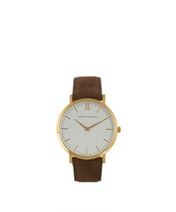 LARSSON & JENNINGS | Lugano Plated And Leather Watch