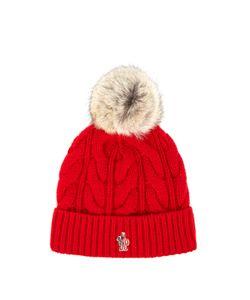 Moncler Grenoble | Fur-Pompom Knitted Beanie Hat