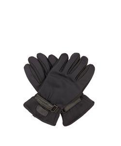 Fendi | Leather-Panelled Gloves