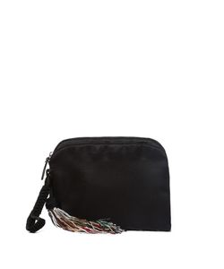 The Row | Beaded-Tassel Satin Wristlet Clutch