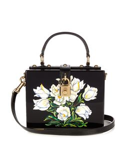 Dolce & Gabbana | Dolce Box Tulip-Print Plexiglass Bag