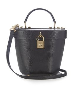 Dolce & Gabbana | Lizard-Effect Leather Basket Bag