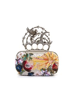 Alexander McQueen | Flying-Unicorn Sequin-Embellished Knuckle Clutch