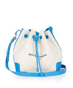 Balenciaga | Ligne Canvas And Leather Bucket Bag