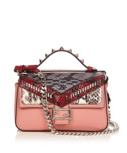 Fendi | Double Micro Baguette Leather Cross-Body Bag