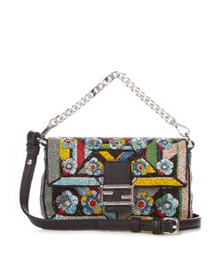 Fendi | Micro Baguette Hand-Embroidered Cross-Body Bag