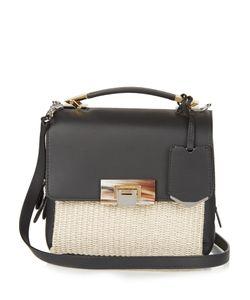 Balenciaga | Le Dix Soft Mini Leather And Raffia Bag