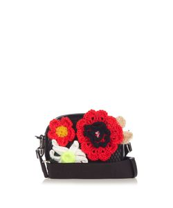 Christopher Kane | Crochet-Flower And Leather Cross-Body Bag