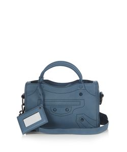 Balenciaga | Blackout City Mini Leather Cross-Body Bag