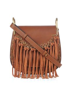 Chloe | Hudson Small Suede-Tassel Leather Cross-Body Bag