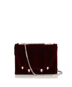 Marco De Vincenzo | Paw-Effect Velvet Cross-Body Bag