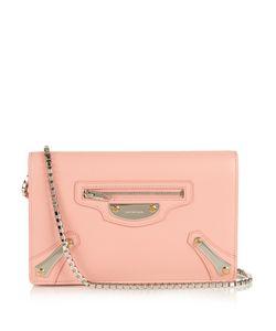 Balenciaga | Metal Plate Leather Shoulder Bag